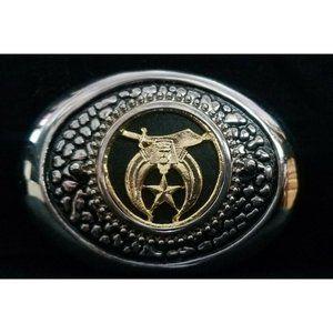 Vintage Shriners Masonic Belt Buckle -Sword & Phar